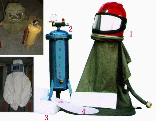 Στολές αμμοβολών-Φίλτρο αέρος για στολές αμμοβολών